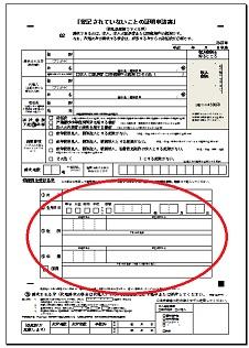 登記されていないことの証明書